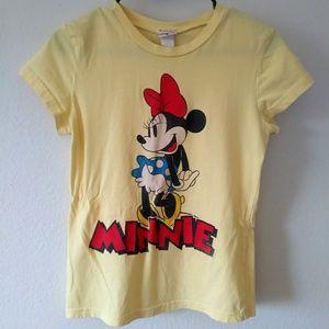 Vintage Thin Pastel Yellow Minnie Mouse Tee